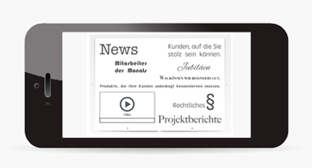 Interaktives Magazin Smartphone